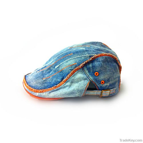 The latest fashion denim beret hats for men