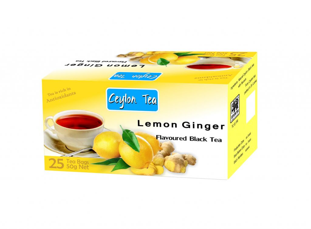 Black tea with Lemon Ginger Flavour tea