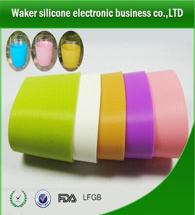 2014 hot sell food grade customized silicone cup cover