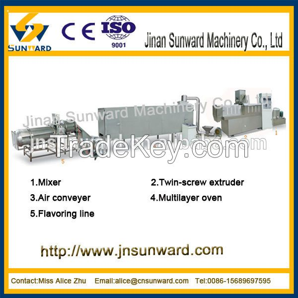 equipment for tha production of dog and cat food/pet food extruder/pou