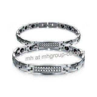 Fashion New Design 316L Stainless Steel Bracelets Crystal Couple Bracelet Jewelry