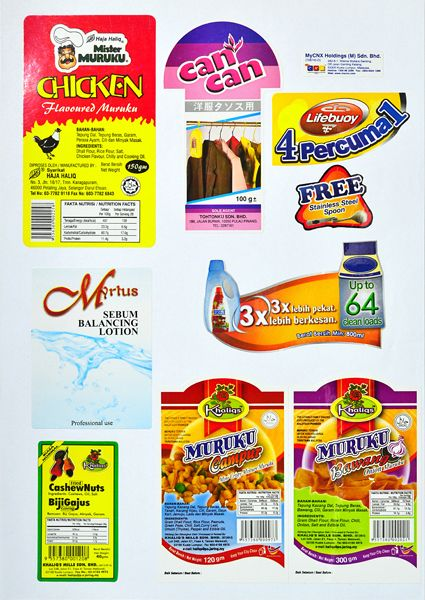 Packaging Label/ Sticker Printing Malaysia