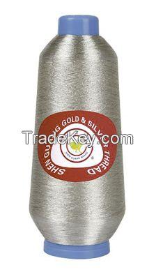150D silver metallic yarn