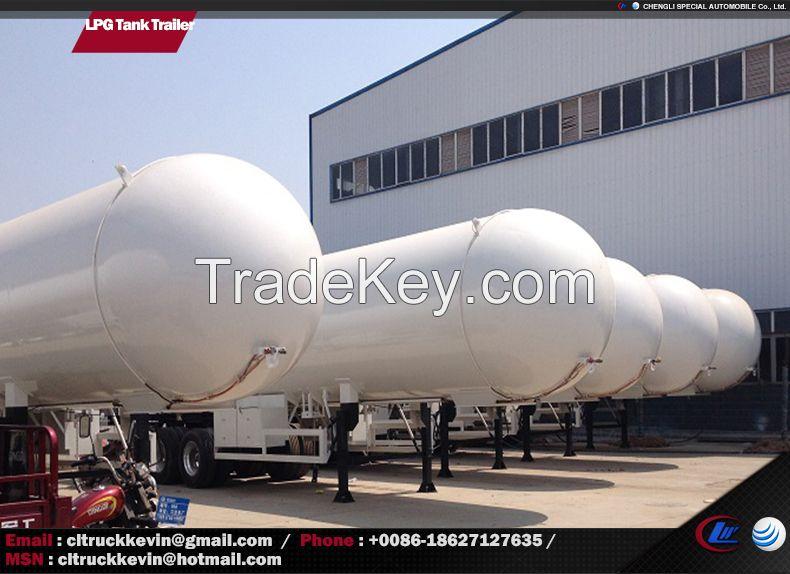 59520 Liters 25 Tons LPG Tank Trailer LPG Transportation Trailer