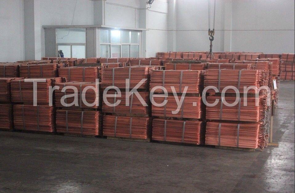 Electro copper Cathode Grade A 99.99%