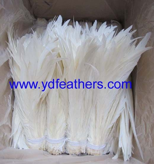 Dress Pheasant Feather Dyed Rooster Feather Trim