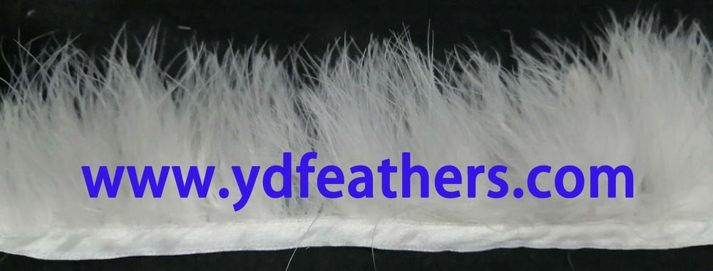 turkey marabou feather fringe/trim for garment accessiores