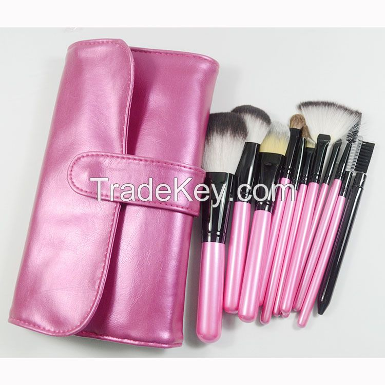 11 pcs synthetic hair professional cosmetic make up brush