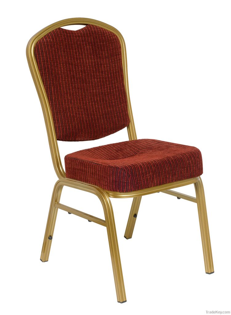 Stacking Aluminum Hotel Banquet Wedding Metal Hall Dining Chair (B-039)