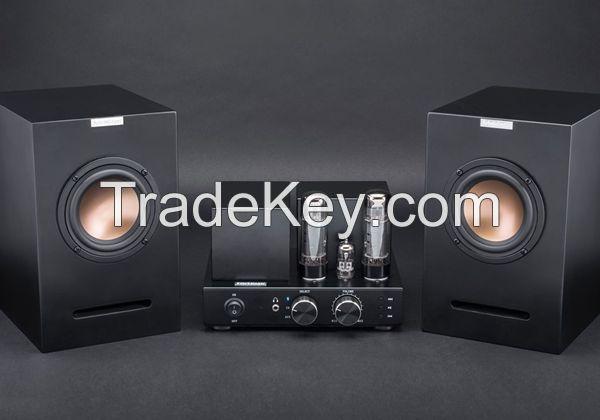 Powerful Vacuum Tube Bluetooth Amplifier with 4 inches Speaker unit Bookshelf Loudspeakers