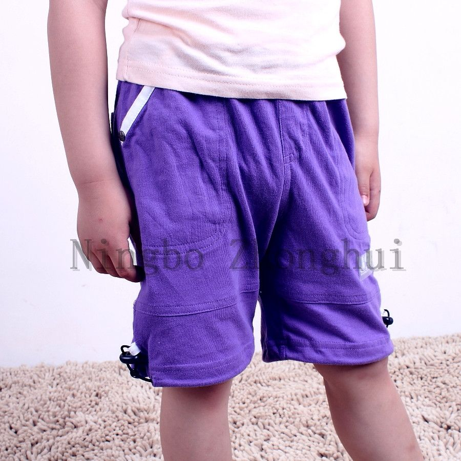 100% polyester Children pant boy summer casual short full customization