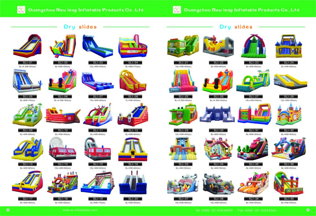 commercial inflatable wet dry slide for sale