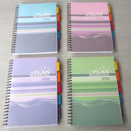 A4 PP spiral notebook with dividers