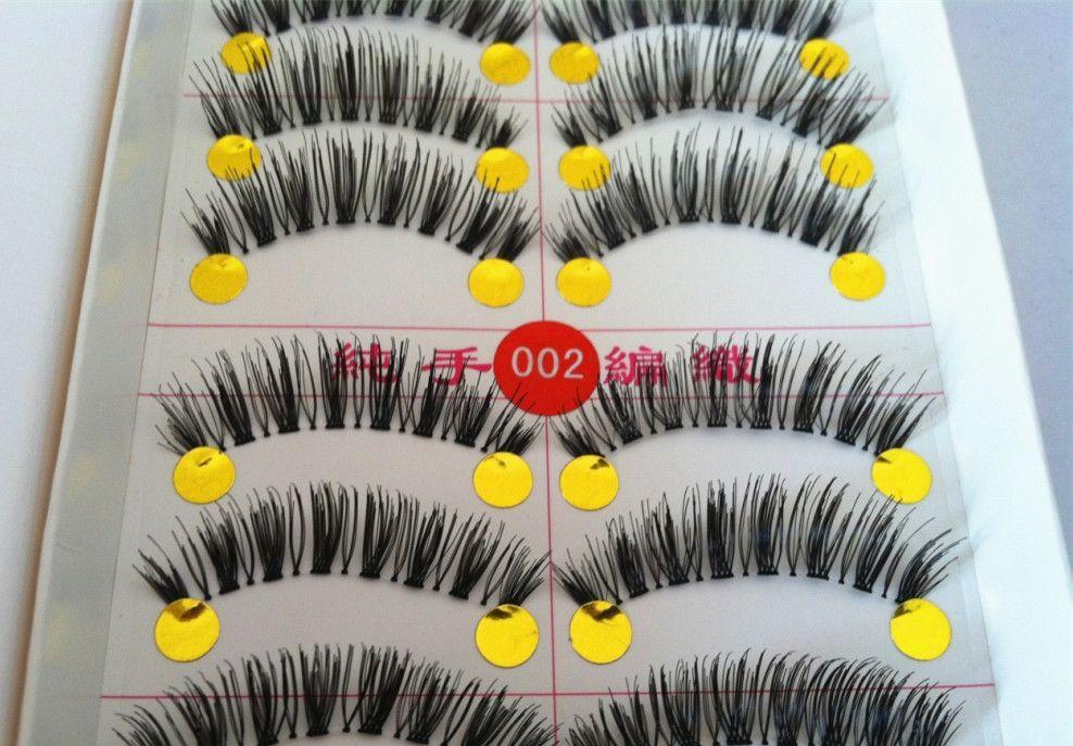 Hand made natural false eyelash individual thick long eyelash extension Eyelashes makeup