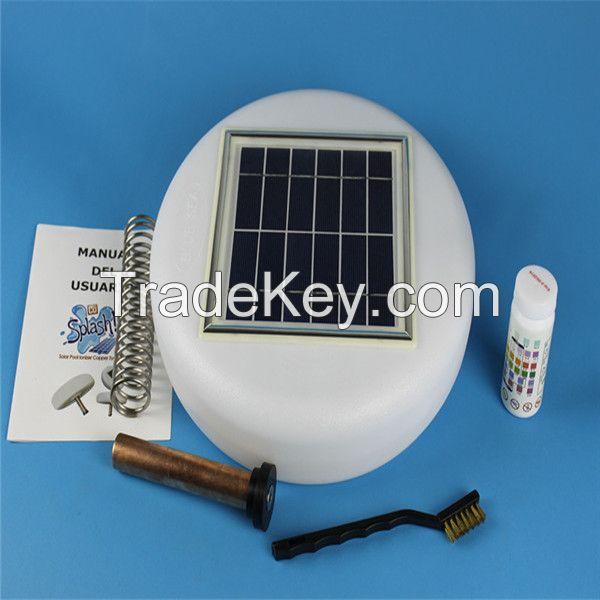 Energy saving mini environmental solar pool ionizer