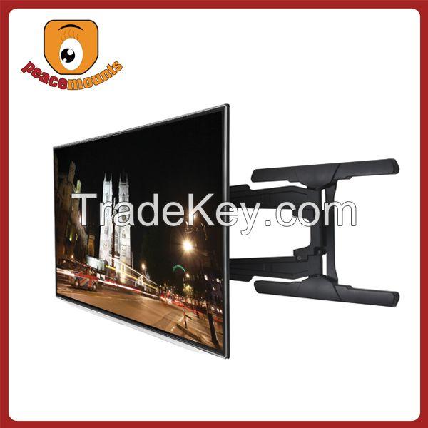 Large screen retractable Ultra-Slim Single arm Tilt and Swivel Economical Flat Panel TV Wall Mount