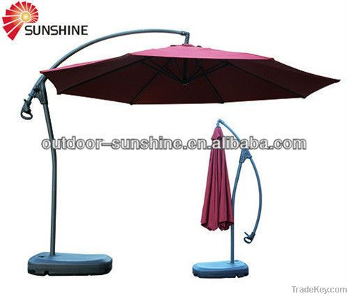 Aluminum hanging umbrella, patio umbrella