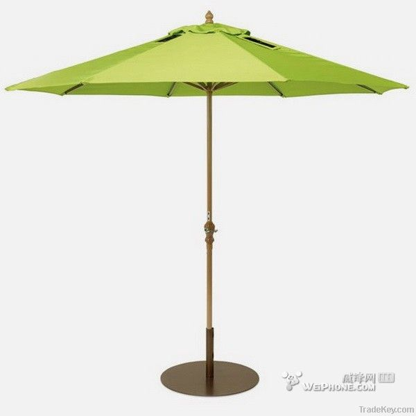 2014 solar power umbrella with crank umbrella outdoor