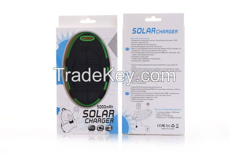Solar power bank 5000mah