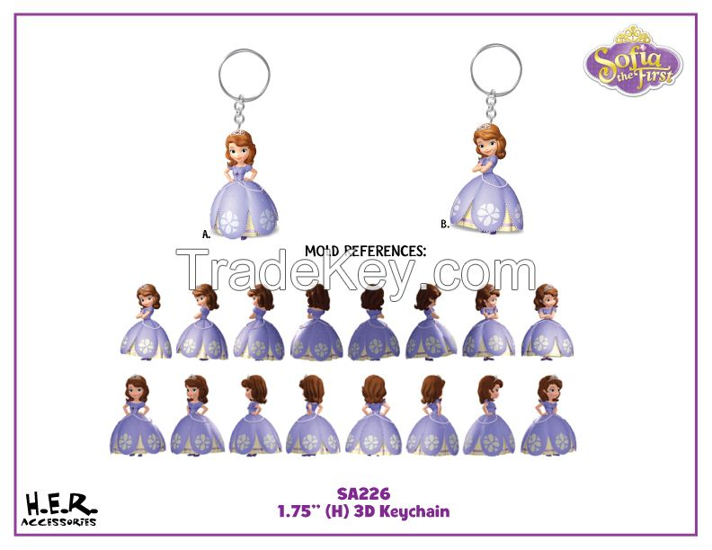 plastic toy , PVC keyring , plastic pvc figure character keychain ,