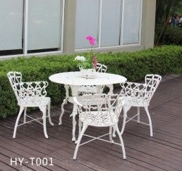 garden furniture set outdoor cast iron table