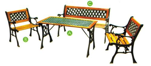 garden furniture set outdoor cast iron table