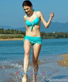 Wholesale Latest Women's Blue 2 PCs Floral Bikini SWS501