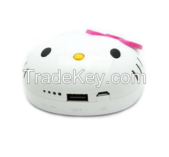 grade A 18650 battery 4000mah power banks, hello kity shape, LED indicator and display