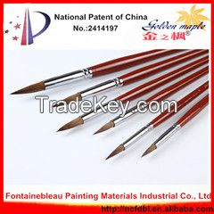Professional High Quality Wooden Handle Artist Paint Brush
