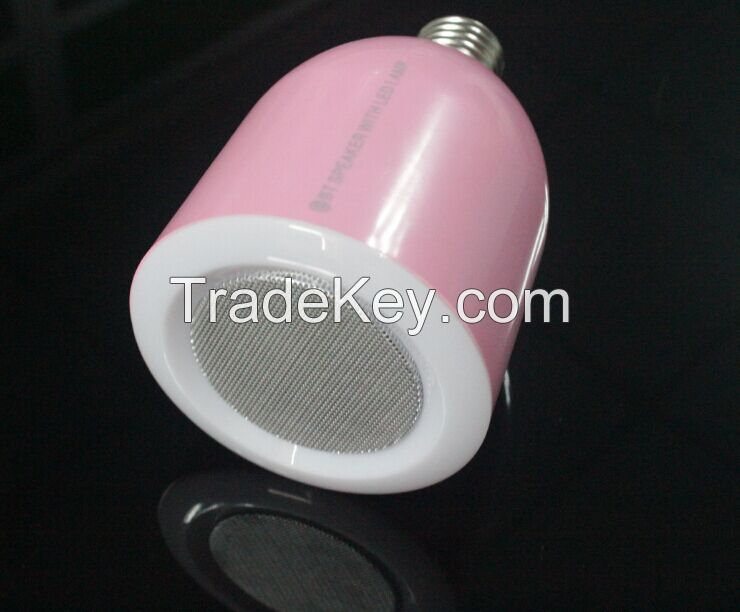 Led bulb with bluetooth speaker