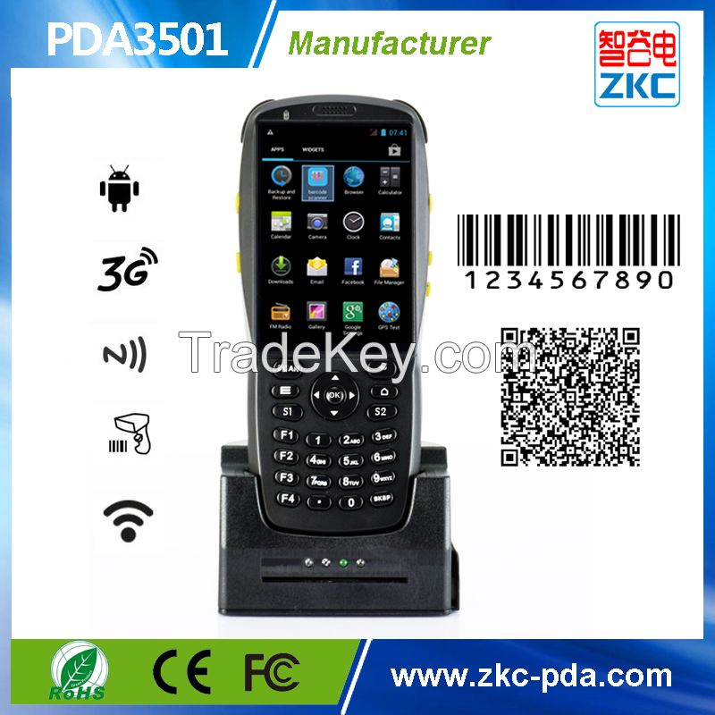 Mobile Handheld Date Terminal, Barcode Scanner Handheld Android PDA for Inventory Management From Factory