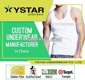 Mens comfortable design plain white vest