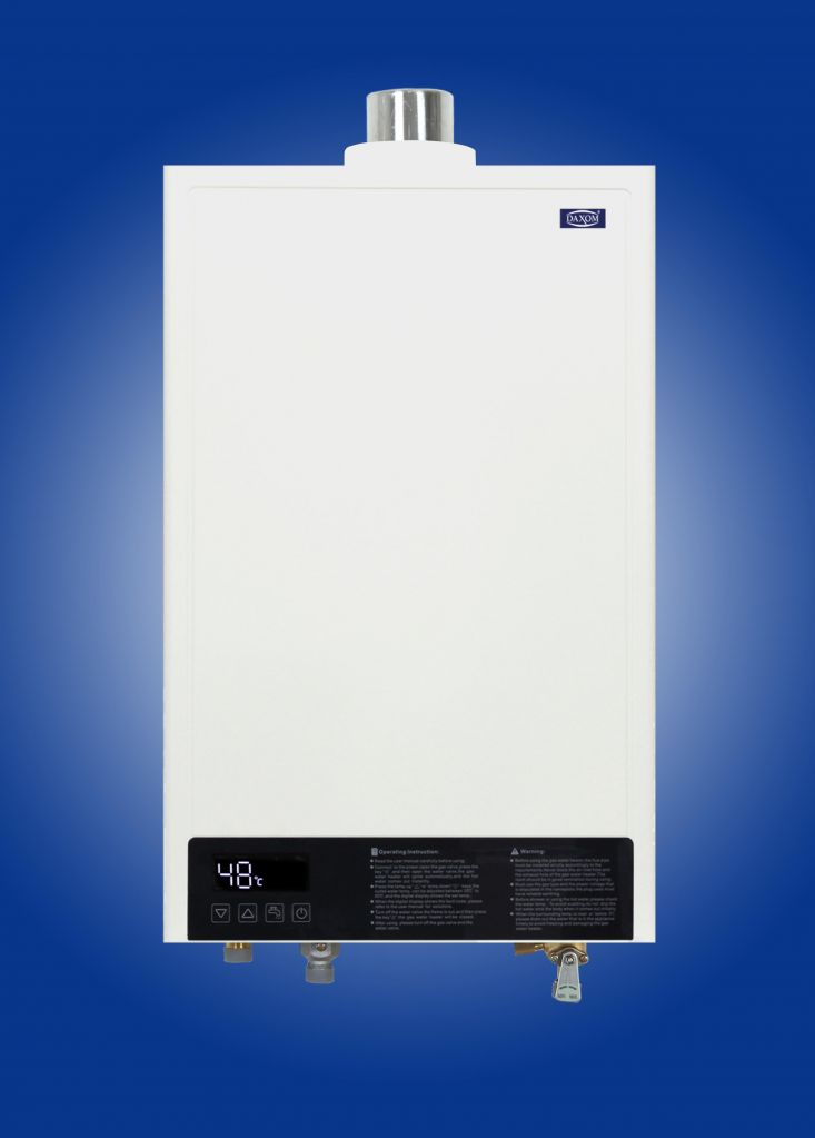 Gas water heater with CE