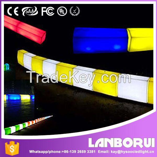 plastic curbstone lighting for roadside decoration,LED lighting kerbstone.