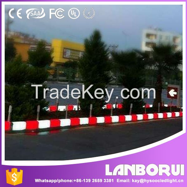 Top quality colorful lighting led kerbstone / Led Light Plastic Curb Stone For Driveway/LED parking curb stone