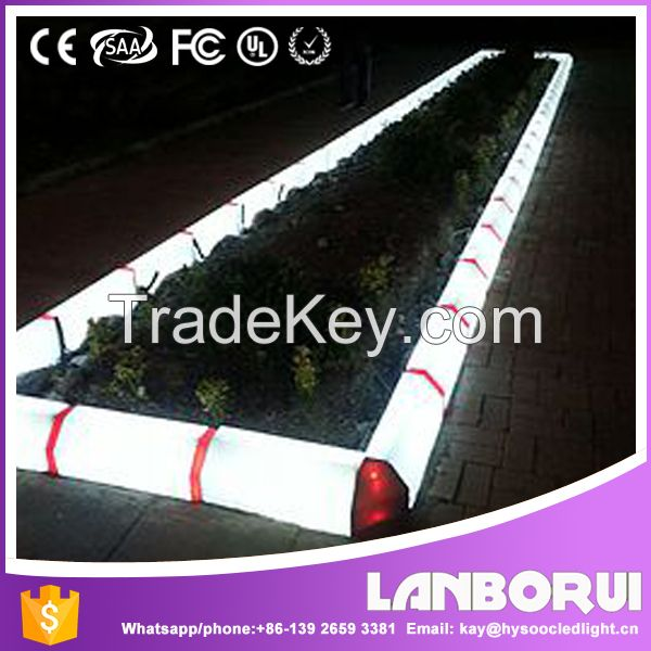 LANBORUI--IP67 led RGB curbstone subgrade construction led light,Lighting Led Kerbstone