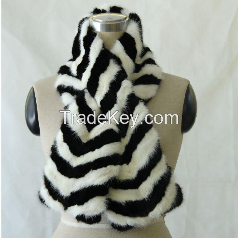 mink fur short scarf