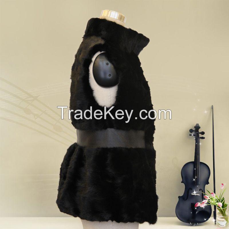 2015 new arrival mink fur black women's coat