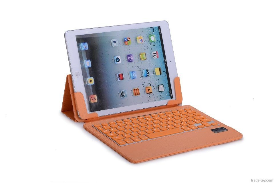 Bluetooth Keyboard For iPad 5 Air With Slimmest Pu Case