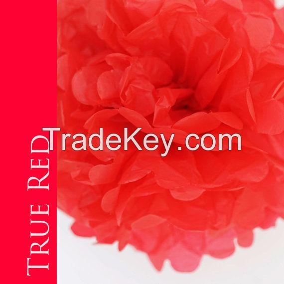 artificial paper pom pom for wedding decoration