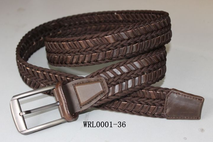 Braided Knitted Leather Belt