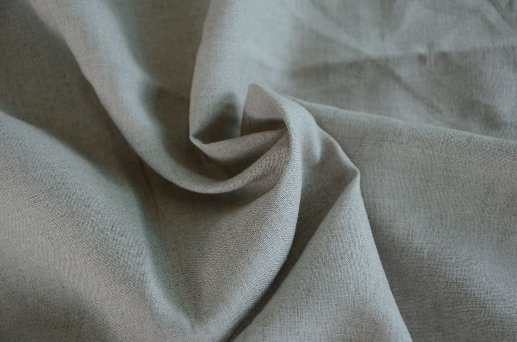 L1001, 100%linen 14s dew retting fabric, natural color without dyeing