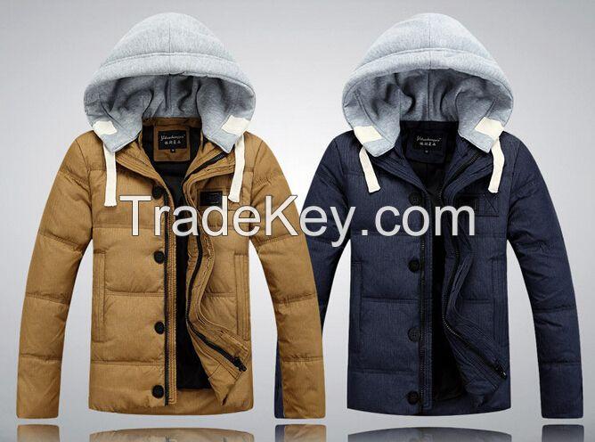 Men's Down Jacket with Hat / Down Coat