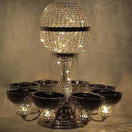 Chandelier table centre piece stands, crystal lamps, crystal tealight