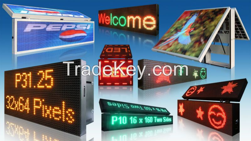 New design led time and temperature sign with GPS function
