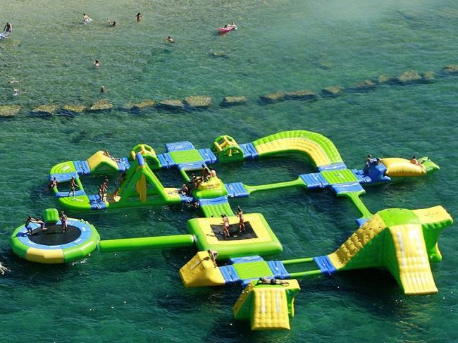 Commercial inflatable water park games for kids or adults