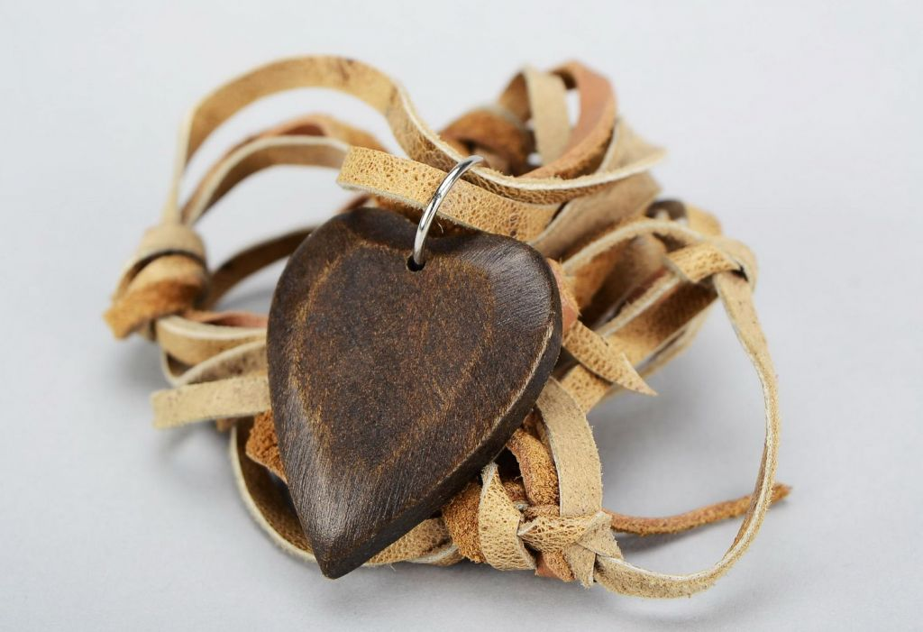 Wooden handmade pendant mascot