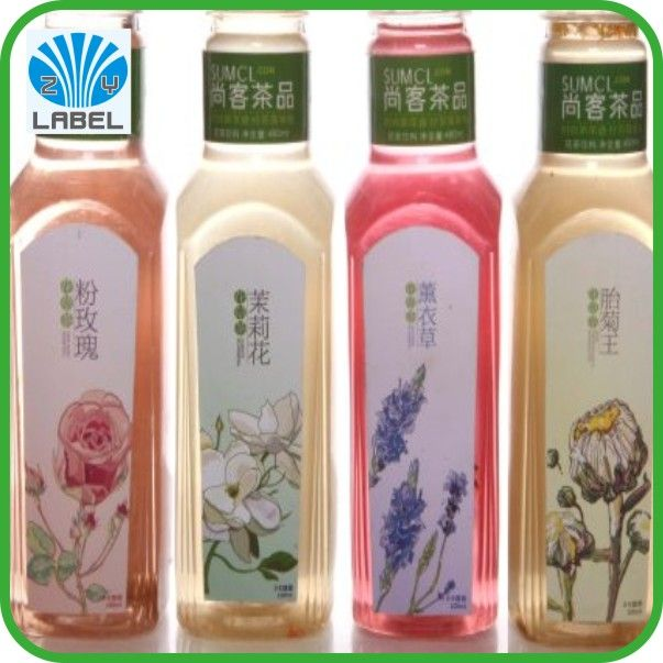 Printing custom vinyl lablels in roll for plastic bottles with competitive price and high quality