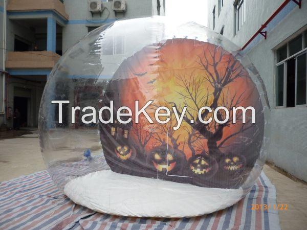 Transparent Inflatable Holiday Decoration Globe