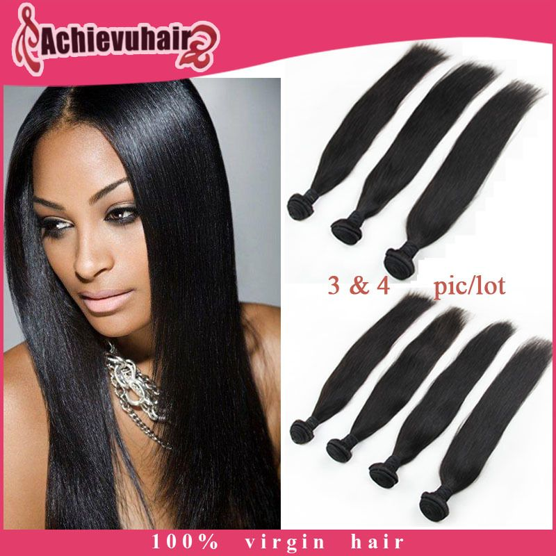 100% human hair Brazilian/Peruvian/Indian remy virgin hair 6A grade straight hair